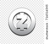 zcash coin symbol isolated web... | Shutterstock .eps vector #716516545