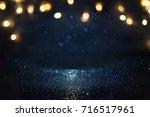 glitter vintage lights... | Shutterstock . vector #716517961