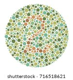 ishihara color test color blind ... | Shutterstock .eps vector #716518621