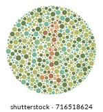 ishihara color test color blind ... | Shutterstock .eps vector #716518624