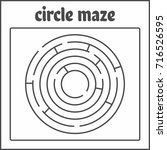 circle maze  labyrinth for kids | Shutterstock .eps vector #716526595