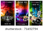 set of 3 music party disco...