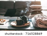 still life details in home... | Shutterstock . vector #716528869