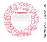 blood donation concept in... | Shutterstock .eps vector #716531335