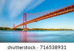 the 25 april bridge  ponte 25... | Shutterstock . vector #716538931