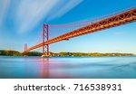 the 25 april bridge  ponte 25... | Shutterstock . vector #716538931