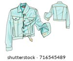 denim jacket | Shutterstock .eps vector #716545489