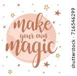 magic slogan graphic for t... | Shutterstock .eps vector #716546299
