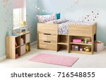 children bedroom interior | Shutterstock . vector #716548855