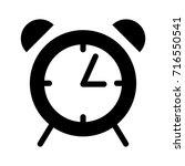 alarm clock icon | Shutterstock .eps vector #716550541