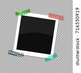 square photo frame. the photo... | Shutterstock .eps vector #716550919