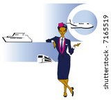 job series   stewardess  asian... | Shutterstock .eps vector #7165519