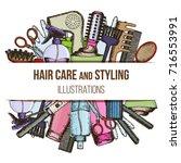 set of colorful sketch...   Shutterstock .eps vector #716553991