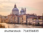 old cathedral of santa maria... | Shutterstock . vector #716556835