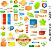 collection of sale elements  ... | Shutterstock .eps vector #71656444