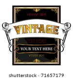 vintage label concept | Shutterstock .eps vector #71657179