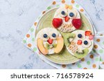 rice cakes with yogurt and...   Shutterstock . vector #716578924