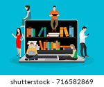 e learning concept illustration ... | Shutterstock .eps vector #716582869