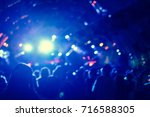 defocused entertainment concert ... | Shutterstock . vector #716588305