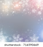 christmas background with... | Shutterstock .eps vector #716590669