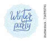 vector winter party typographic ...   Shutterstock .eps vector #716593741