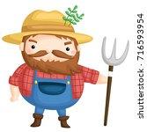 old farmer   Shutterstock .eps vector #716593954