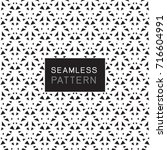 seamless pattern with simple... | Shutterstock .eps vector #716604991