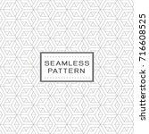seamless pattern with simple... | Shutterstock .eps vector #716608525