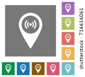 free wifi hotspot flat icons on ... | Shutterstock .eps vector #716616061