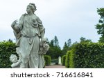 female antique statue in the...   Shutterstock . vector #716616841