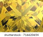 realistic  yellow sapphire... | Shutterstock . vector #716620654