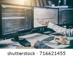 developing programming and... | Shutterstock . vector #716621455