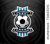 university tournament  soccer... | Shutterstock .eps vector #716623141