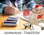 rising food and grocery store... | Shutterstock . vector #716625154