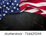 american flag for memorial day  ... | Shutterstock . vector #716625244
