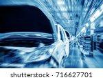 modern automobile production... | Shutterstock . vector #716627701