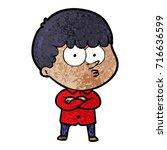 cartoon curious boy   Shutterstock .eps vector #716636599