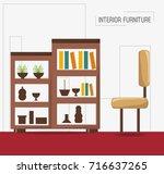 furniture concept design | Shutterstock .eps vector #716637265
