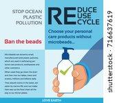 stop ocean plastic pollution...   Shutterstock .eps vector #716637619