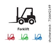forklift icon vector...