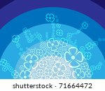 rainbow flowers background | Shutterstock .eps vector #71664472