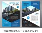 business brochure. flyer design.... | Shutterstock .eps vector #716654914