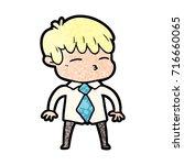 cartoon curious boy   Shutterstock .eps vector #716660065