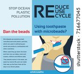 stop ocean plastic pollution... | Shutterstock .eps vector #716677045