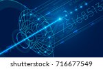 abstract technology digital... | Shutterstock . vector #716677549