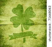 Clover With Four Leaves In...