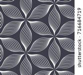 linear vector pattern ... | Shutterstock .eps vector #716684719
