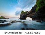 sunset near famous tourist...   Shutterstock . vector #716687659