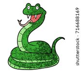 cartoon happy snake | Shutterstock .eps vector #716688169