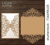 laser cut wedding invitation... | Shutterstock .eps vector #716698135